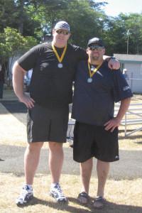 John and Scott at the Finish