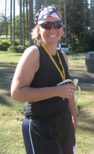 Teri at the finish