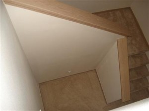 Yes folks, this house HAS A STAIRCASE! No more pesky ladders to get from floor 1 to 2!
